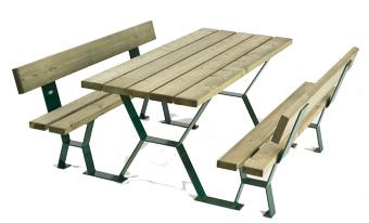 mobilier ext rieur pour collectivit s sas sodifrex le capucin tabalou dossier 180 table banc. Black Bedroom Furniture Sets. Home Design Ideas